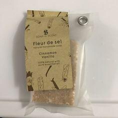Soap-N-Scent Fleur De Sel Cinnamon Vanilla Natural Handmade Soap 3.5oz Vegan #SoapNScent