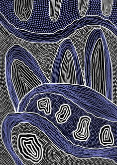 Caledonian Designs Aboriginal Patterns, Aboriginal Painting, Dot Painting, Encaustic Painting, Art And Illustration, Kunst Der Aborigines, Posca Art, Graphisches Design, Australian Art