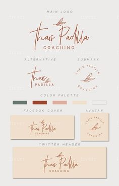 Coaching Logo Design | Instagram Expert & Business Coach Logo | Mini Branding Kit by Lehzli Branding Logo Design, Branding Kit, Business Logo Design, Brand Identity Design, Corporate Branding, Logo Design Services, Design Web, Logos 3d, Editorial Design