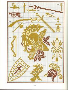 Gallery.ru / Photo # 23 - Repertoire des motifs - Orlanda knight weaponry shield helmet