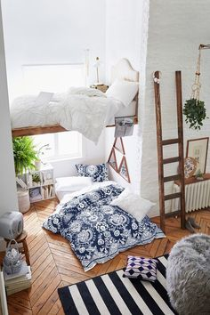 Loft with wooden flo