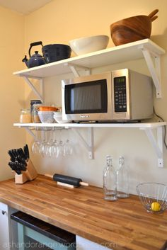 shelf for microwave over the sink. NEED THIS