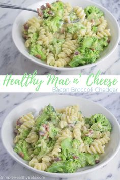 Healthy Mac and Cheese | Simple Healthy Eats | Most mac and cheese dishes leave you feeling bleh and yucky! That's why I made my Bacon Broccoli Cheddar HEALTHY Mac and Cheese! (It can even be low carb!)