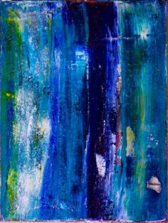 ARTFINDER: Aqua colorfield by Nestor Toro - I am very into bold strong colors and it shows with this piece. Small yet full of color contrast and details. Starting with a thick layer of gesso and later . Abstract Painters, Abstract Art, Paintings For Sale, Original Paintings, Colour Field, Abstract Expressionism Art, Musa, Acrylic Painting Canvas, Painting Art