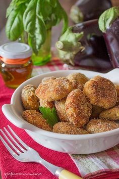 Polpette di melanzane e patate fritte o al forno
