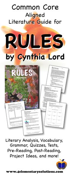 7 best rules by cynthia lord resources images on pinterest 5th rh pinterest com Rules by Cynthia Lord Kristi Rules by Cynthia Lord Characters