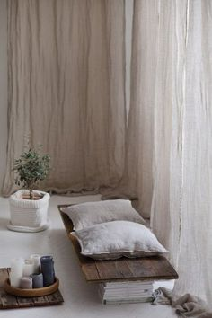 Pure linen curtains, European textured linen drapery, Canopy over the bed, Linen curtain panel, Light and transparent drapes Sheer Linen Curtains, Custom Drapes, Curtains Living Room, Home, White Linen Curtains, Curtains, Bed, House Interior, White Linen