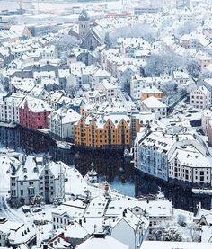 winter in Ålesund, Norway