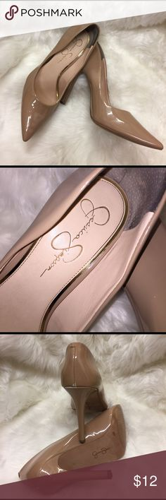 Classy Jessica Simpson Pumps Very classy beige pumps for sale. I have wore them a few times. Since I drive a manual car, the last picture shows the wear and tear part of the shoes. Love them but have to let them go! These are great for learning how to walk in heals, ladies! Let me know if you have an offer. Heel is 4.5 inches. Jessica Simpson Shoes Heels