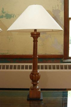 """$1500/  36""""high 6"""" wide located Hudson NY Pair Tall Carved Wood Lmaps 