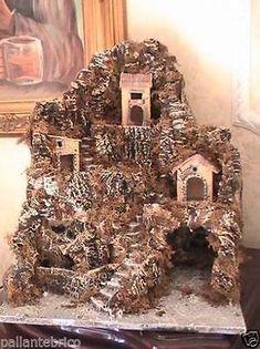 Presepe presepio artigianale napoletano di San Gregorio Armeno mod. Oriente Simple Christmas, Christmas Diy, Christmas Decorations, Holiday Decor, Clay Fairy House, Fairy Houses, Upcycled Home Decor, Upcycled Crafts, Diy Crafts For Adults