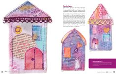 LIttle House sewing machine doodling. Featured in Sew Somerset, Winter 2012 Issue.