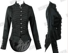 Seriously love this jacket! The slight victorian/military inspiration is beautiful..