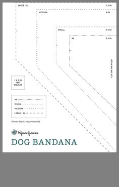 Dog Bandana that can be either tied under the dogs chin or you can fold 2 opposi. - Dog Bandana that can be either tied under the dogs chin or you can fold 2 opposi… Dog Bandana t - Dog Collar Bandana, Cat Bandana, Bandana For Dogs, Diy Dog Collar, Bandana Ideas, Dog Clothes Patterns, Dog Crafts, Dog Items, Dog Pattern
