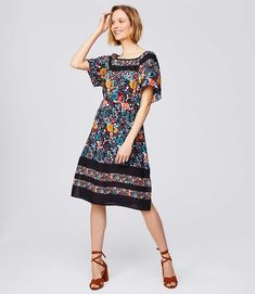 64cf8fb63 Shop LOFT for stylish women's clothing. You'll love our irresistible  Flowerbed Flare Dress