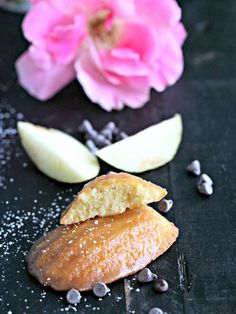 These salted caramel apple madeleines deliver fall's classic dessert of caramel dip apples in a fine, sweet and soft cookie form.