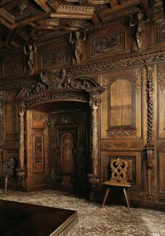 Gorgeous abandoned house with exquisite woodwork.Rich Room of Schlossli (Little Castle) Manor House Built in 1682 for Johann Gaudenz Von Capol Old Abandoned Buildings, Abandoned Property, Abandoned Castles, Abandoned Mansions, Old Buildings, Abandoned Places, Beautiful Architecture, Beautiful Buildings, Beautiful Places