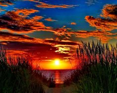 Heart warming sunset