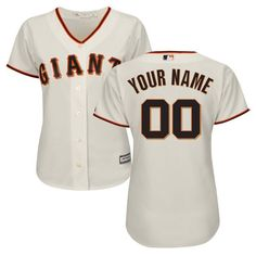 San Francisco Giants Majestic Women's Home Cool Base Custom Jersey - Cream  - $104.99