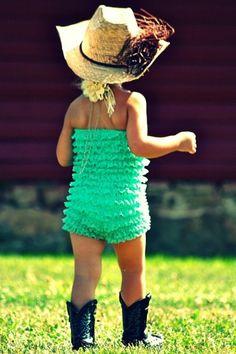 Ruffles + Cowboy boots = adorable