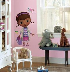 Lovely New Giant DOC MCSTUFFINS WALL DECALS Disney Stickers Girls Bedroom Decor on eBay