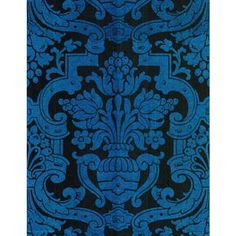 Cole And Son Grandeur Wallpaper in Blue ($360) ❤ liked on Polyvore featuring home, home decor, wallpaper, damask wallpaper, blue wallpaper, blue home decor, blue home accessories and blue damask wallpaper