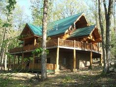 Bliss cabin is an authentic Log cabin with stone accent, it has nearly two acres of land, 3000 square feet indoor living and wrapped around deck over looking mountain stream and a fire pit nearby for outdoor enjoyment. ...