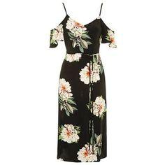 TopShop Floral Cold Shoulder Dress