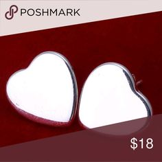 """Brand new! 925 Sterling Silver Earrings Brand new in box. .5""""  Buy with confidence: 📈Top Rated Seller  📈Top Seller--1,600+ orders!!!  👏Poshmark Ambassador 👸Posh Mentor 📬Fast Shipping 🚭Smoke and pet free  A23 Jewelry Earrings"""