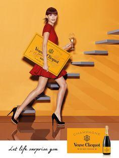 A nova campanha de Veuve Clicquot