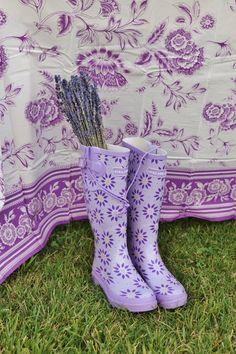 I want those wellies  !!!!   Rattlebridge Farm: Lavender Week: The Novel Bakers