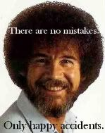 Bob Ross with a happy message.