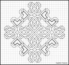 Blackwork Patterns, Celtic Patterns, Zentangle Patterns, Cross Stitch Patterns, Graph Paper Drawings, Graph Paper Art, Geometric Drawing, Geometric Art, Pattern Drawing