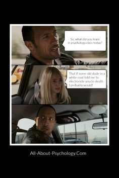 Click Rock meme to learn all about social psychology and access quality social psychology resources. #SocialPsychology #psychology #PsychologyMajors #PsychologyStudents Pulp Fiction, Funny Cute, Haha Funny, Funny Stuff, Funny Shit, Funny Things, Best Funny Pictures, Funny Images, Car Jokes