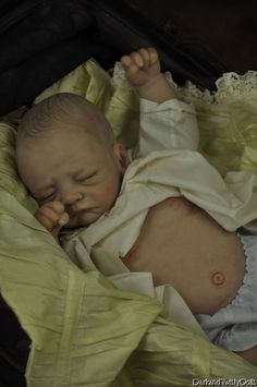 Reborn baby vampire by artist Lacey Michelle. Cute Baby Dolls, Reborn Baby Dolls, Cute Babies, Dark And Twisty, Silicone Baby Dolls, Creepy Cute, Our Kids, Doll Accessories, Old And New
