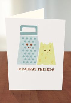 63 best threadless recycled paper greeting cards at target images cheesy friendship by threadless artist theodoros zirinis from greece available at target m4hsunfo