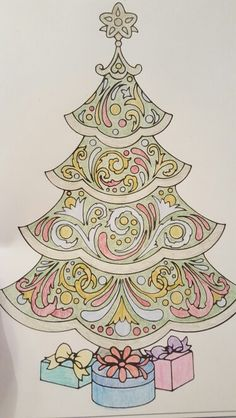 Creative Havens Christmas Tree Coloring Book