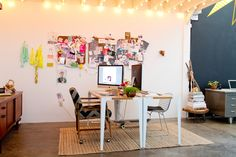 workspace of Bri Emery (Design Love Fest) + Max Wanger - Los Angeles CA Workspace Design, Office Workspace, Home Office, Living Etc, Interior And Exterior, Interior Design, Condo Design, Workspace Inspiration, Studio Room