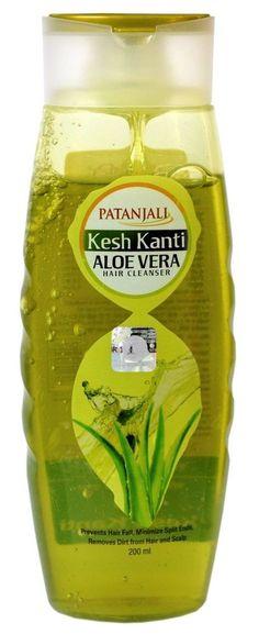 05a3c9476 2 X Patanjali Ayurvedic Kesh Kanti Aloe Vera Hair Cleanser Shampoo 200ml  for sale online | eBay