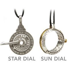 Who needs a watch when we have the sun and the stars? Star dial pendant and sundial ring
