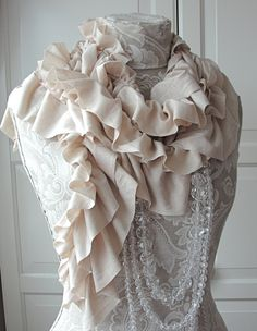 Double ruffle HANDMADE scarf by FAIRYTALE13 by FAIRYTALE13