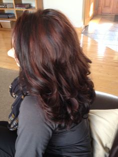 Red highlights by Snippers Salon & Spa in Monroeville