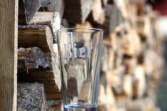 Bier German Beer Etched Pint Glass. $8.00, via Etsy.