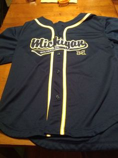 Michigan Wolverines Blue Baseball Jersey Men's Medium UM #MichiganWolverines Michigan M, Michigan Wolverines, Go Blue, Baseball Jerseys, Adidas Men, Medium, Awesome, Tops, Sports