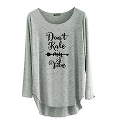 TeeMixed Women Long Sleeve T-shirt - Grey TeeMixed http://www.amazon.com/dp/B0183JJPTQ/ref=cm_sw_r_pi_dp_qyxtwb09XH8K4