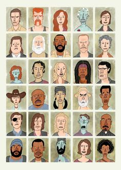 The Walking Dead - Pop Culture Portraits by Curtis Rosenthal