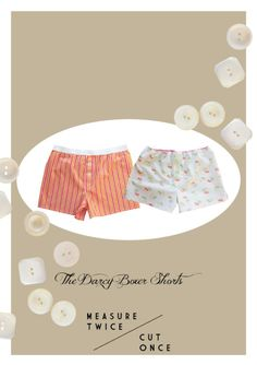Sewing Men Projects Like their namesake Mr Darcy, these boxers are classically stylish. Sitting low on the waist they offer full coverage front and back. Designed for woven fabric with an elastic waist. The instructio. Sewing Hacks, Sewing Tutorials, Sewing Crafts, Sewing Projects, Sewing Tips, Sewing Men, Sewing Clothes Women, Men Clothes, Sewing Patterns Free