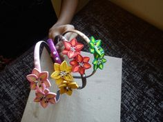quilled flower hairband