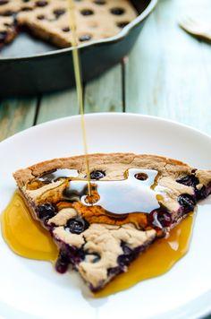 Giant Blueberry Skillet Pancake | Vegan and Gluten-Free