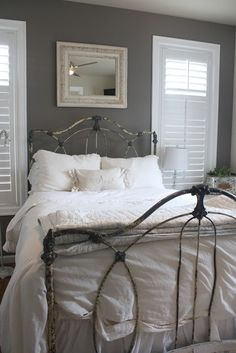 Here's a great bed that needs a little TLC. The bent bars you can see on the footboard can easily be straightened and the bed will still maintain it's great vintage appeal. Shoot me an email if you have a similar piece and I'll tell you the steps to making the spokes straight.
